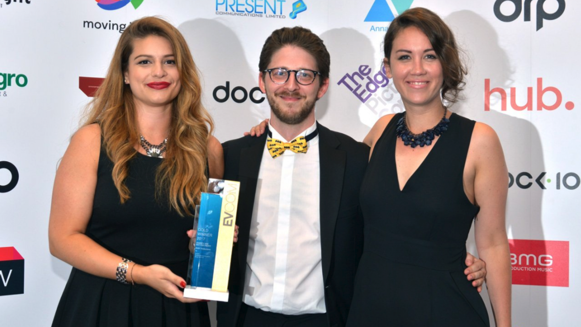 creative agency team at raw london win big at evcom