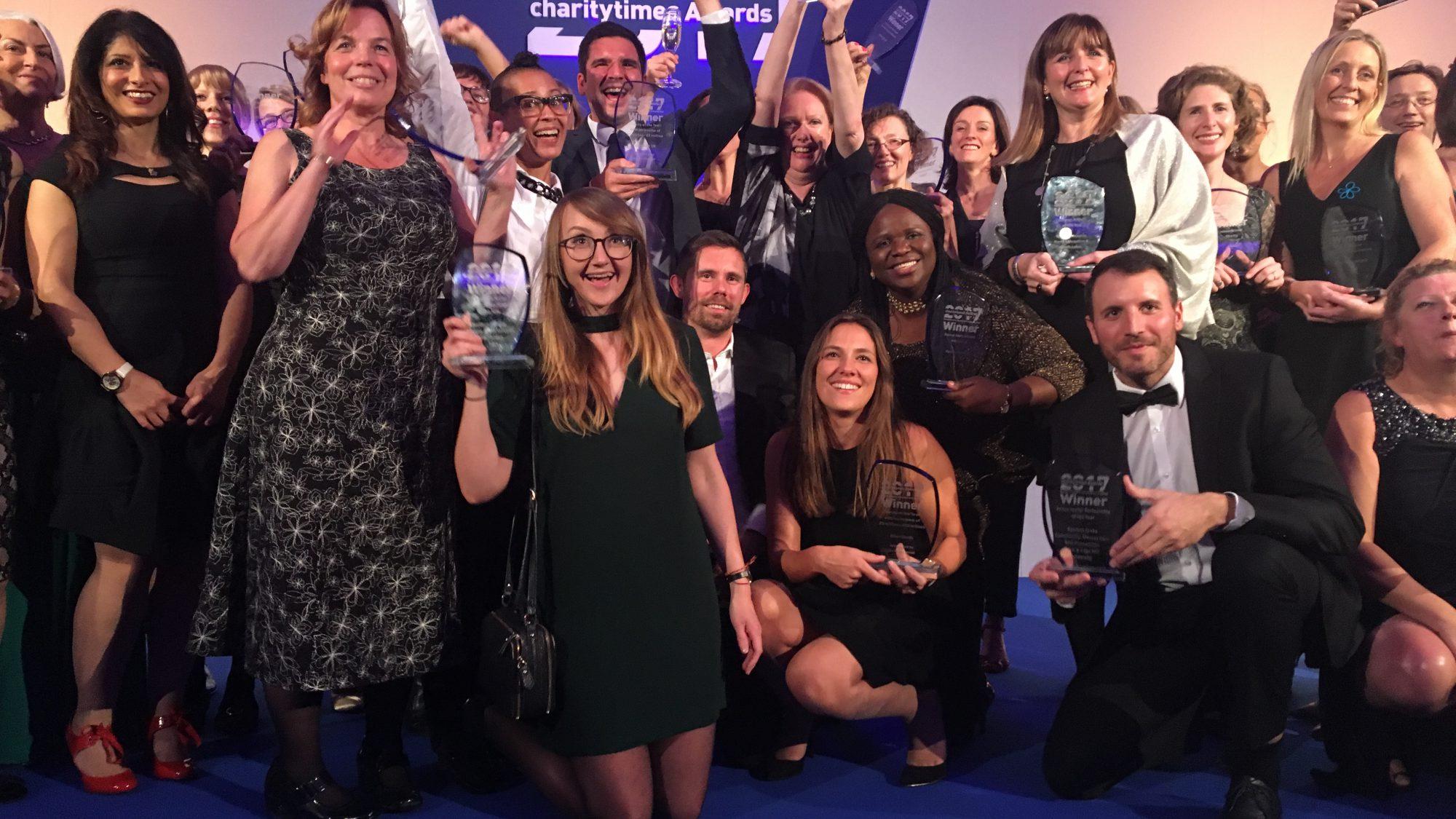 Group photo at EVCOM Awards 2017