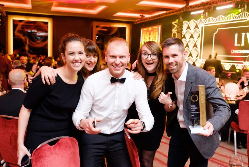 Raw London team with their trophy at EVCOM Industry Awards 2017