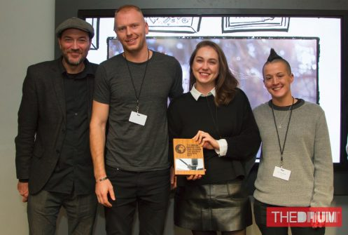 Raw London team accept creative agency award at The Drum 2017