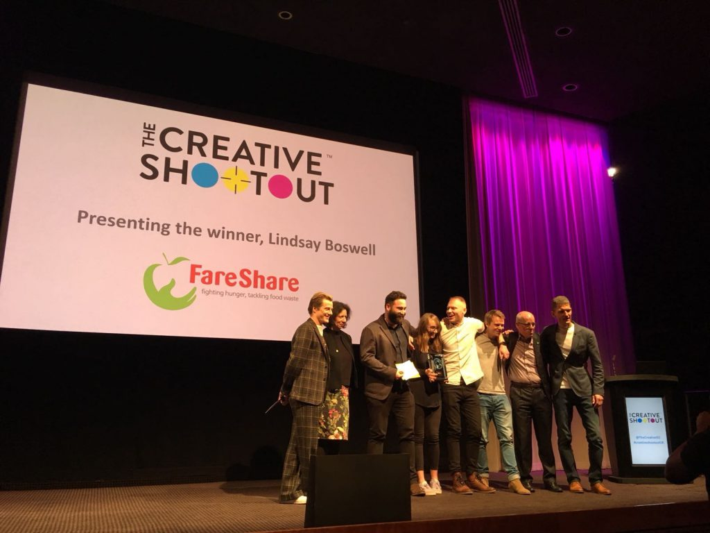 Creative Shootout 2018 Raw London winners FareShare