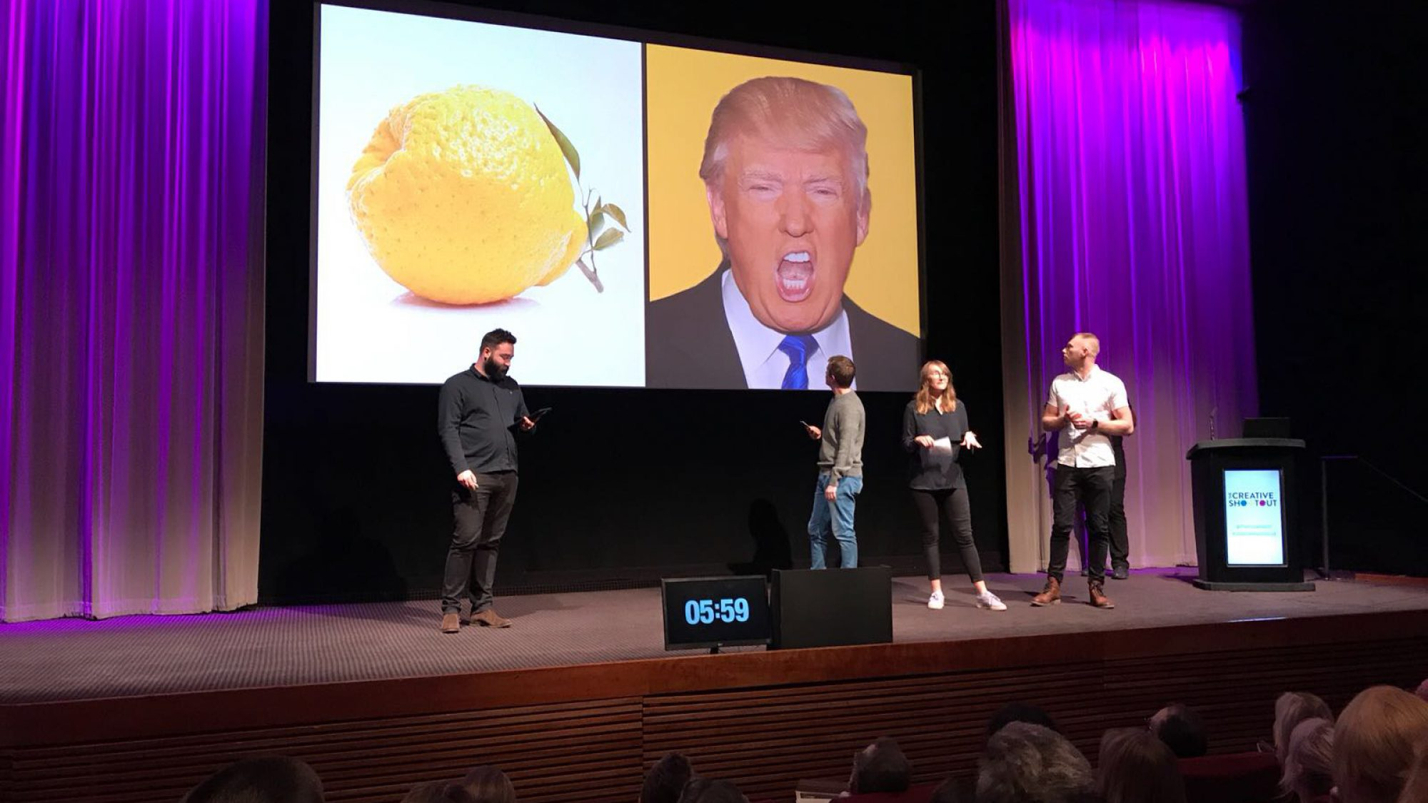 Raw London on stage with FareShare at BAFTA at Creative Shootout 2018