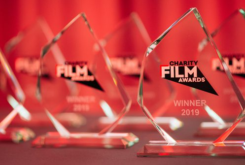 Trophies from Charity Film Awards 2019