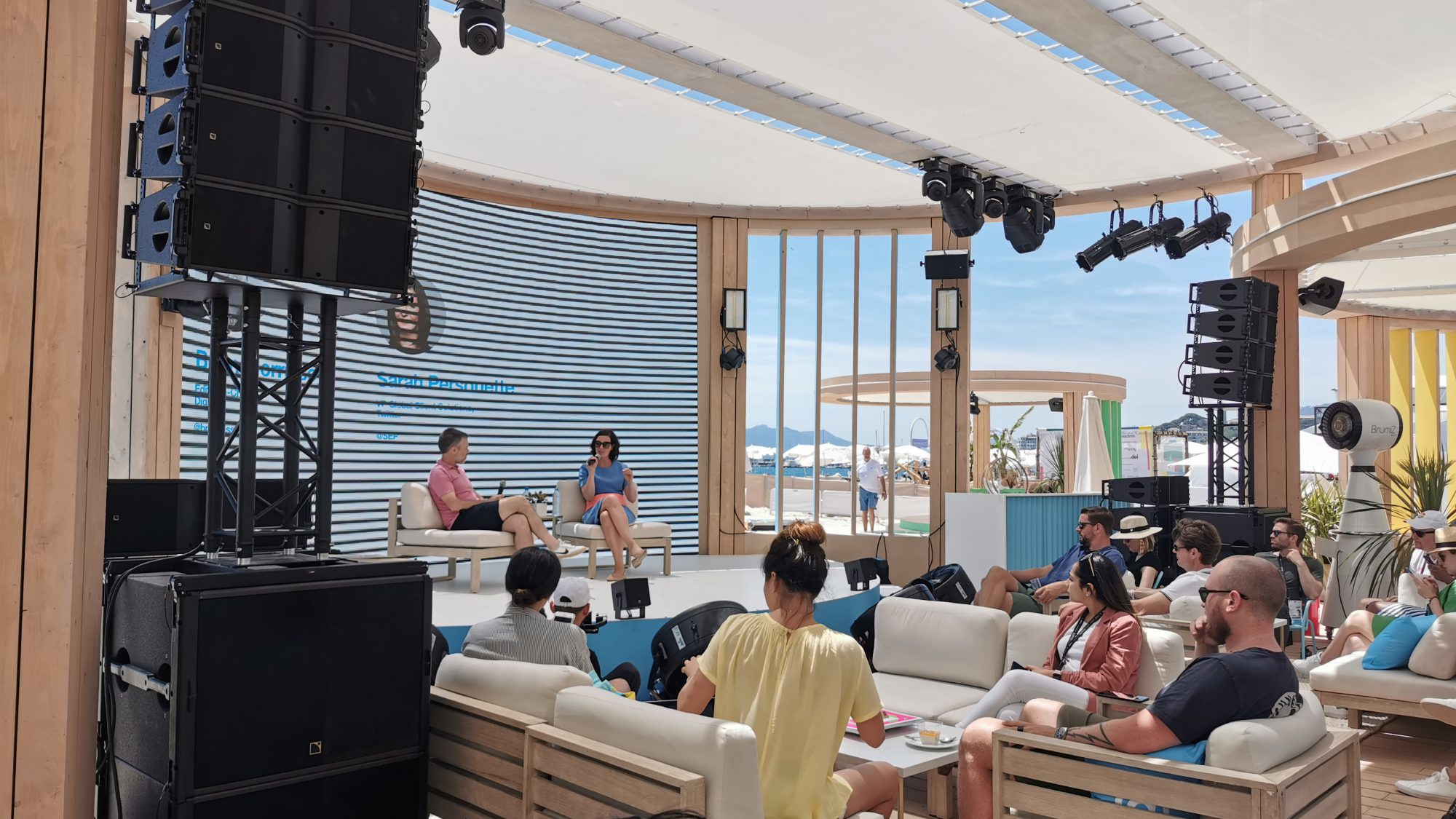 Panel discussion at Cannes Lions taken by Raw London