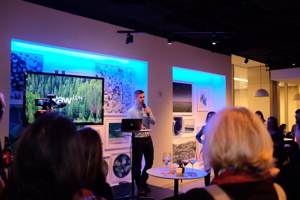 Ryan Wilkins, Raw London, speaks at Climate Week NYC 2018