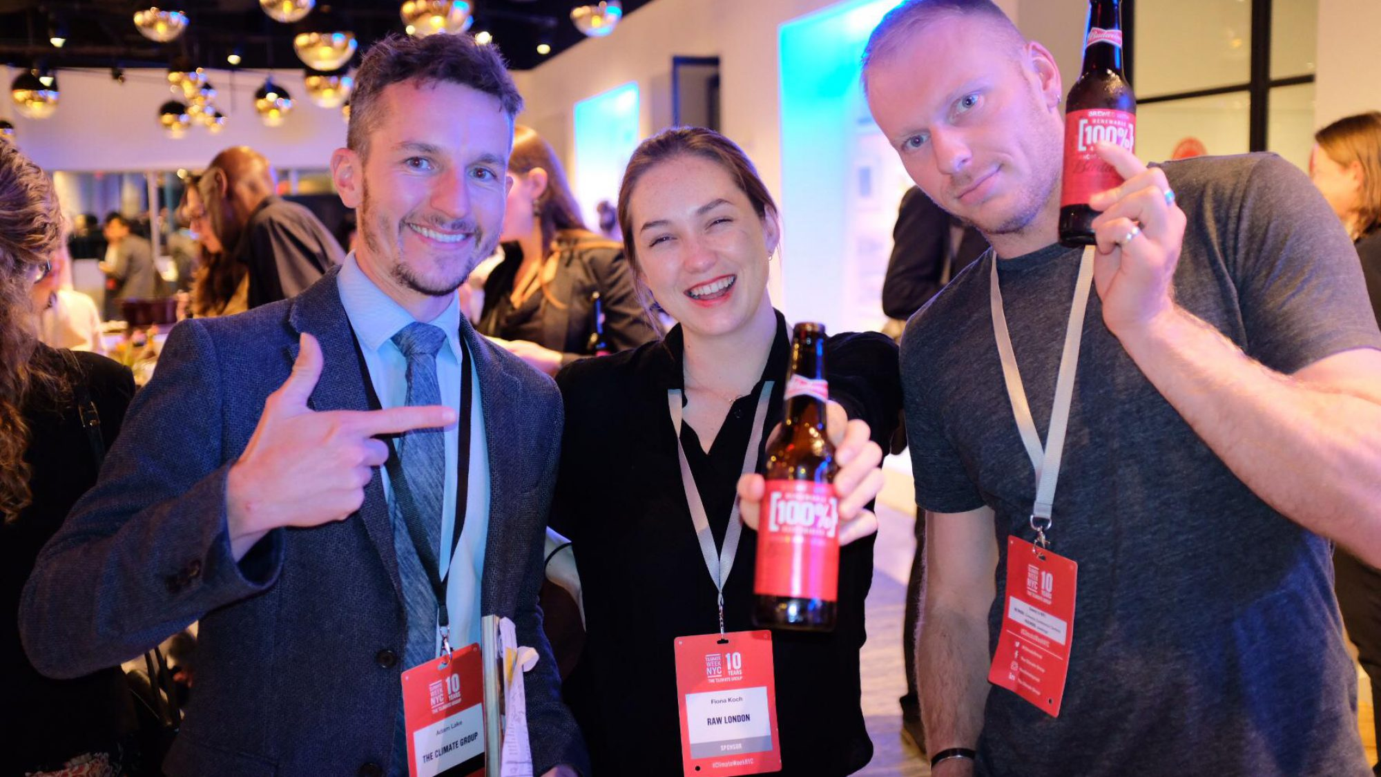 Raw London team showing off sustainable beers at Climate Week 2019