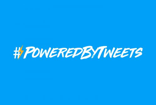 Text that reads: #PoweredByTweets