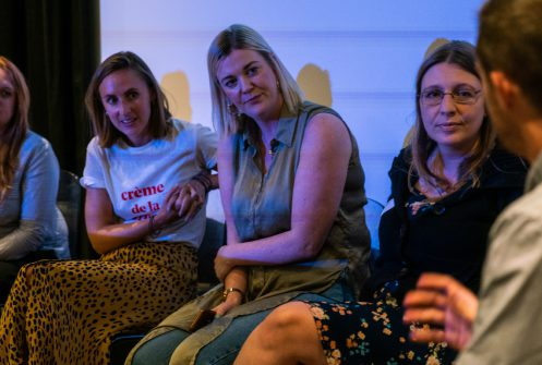 Panel speakers discuss integrated campaigns at Relay by Raw London event in September 2019