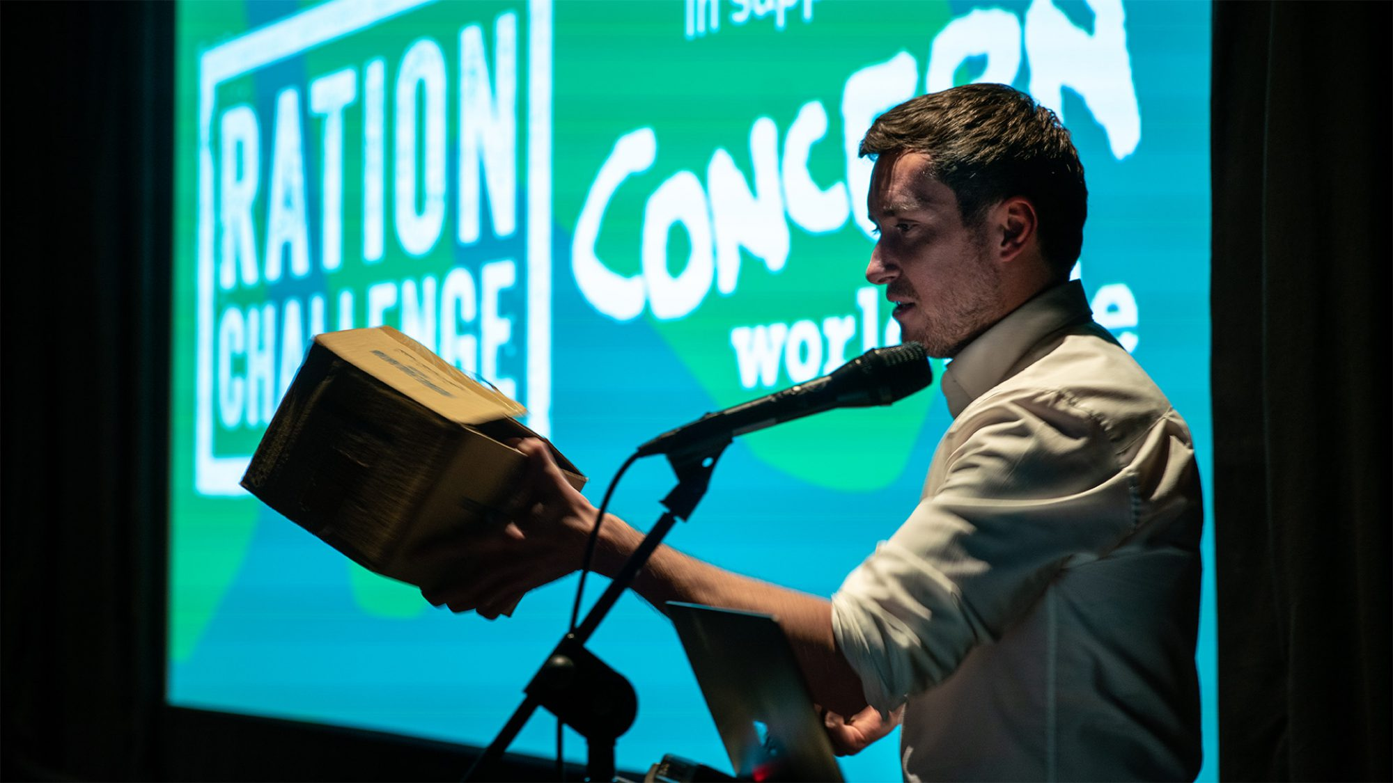 Speaker from Concern Worldwide at Relay by Raw London event