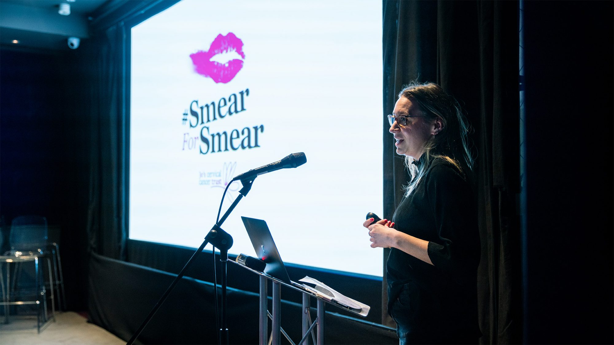 Speaker from Jo's Trust at Relay by Raw London event
