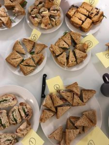 Christmas sandwiches blind taste test at Raw London