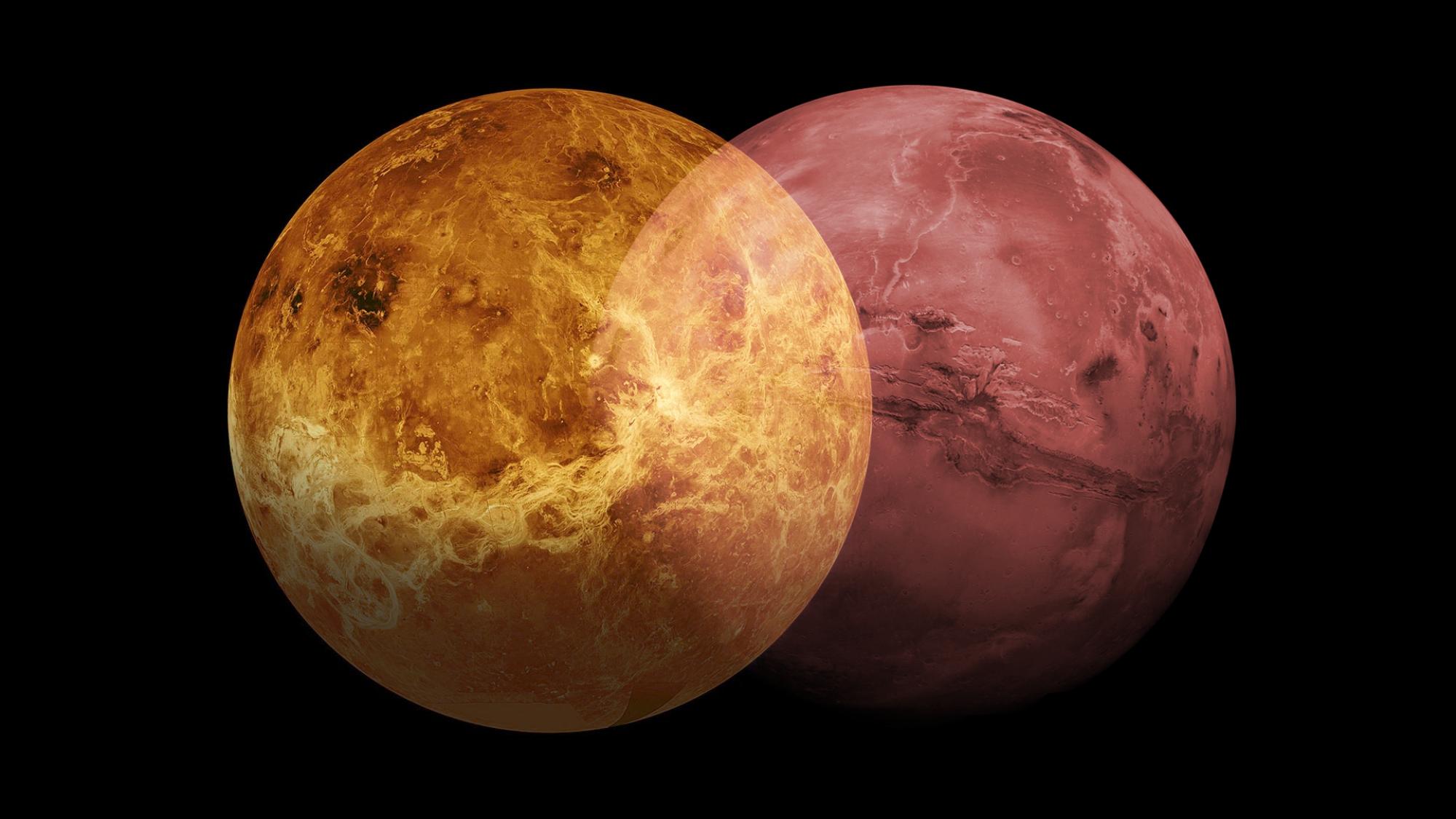 Venus and Mars as a ven diagram