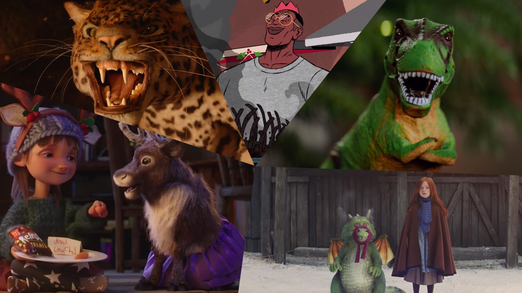 Collage of the best Christmas adverts of 2019