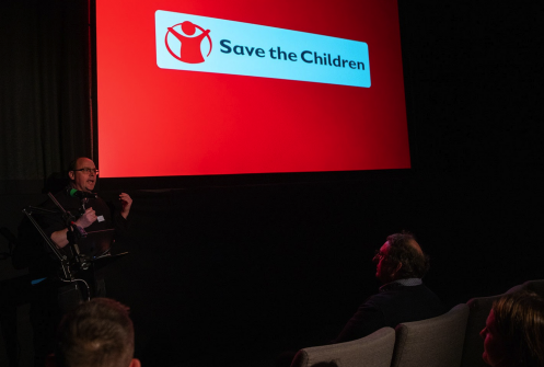 Speaker from Save the Children at Raw London