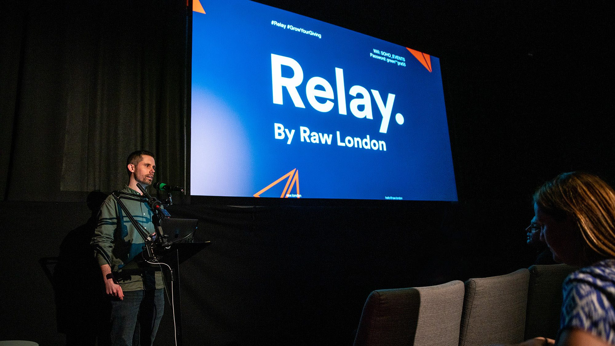 Ryan Wilkins speaks at Raw London's Relay event