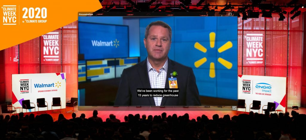 Walmart CEO announcement at Climate Week NYC 2020