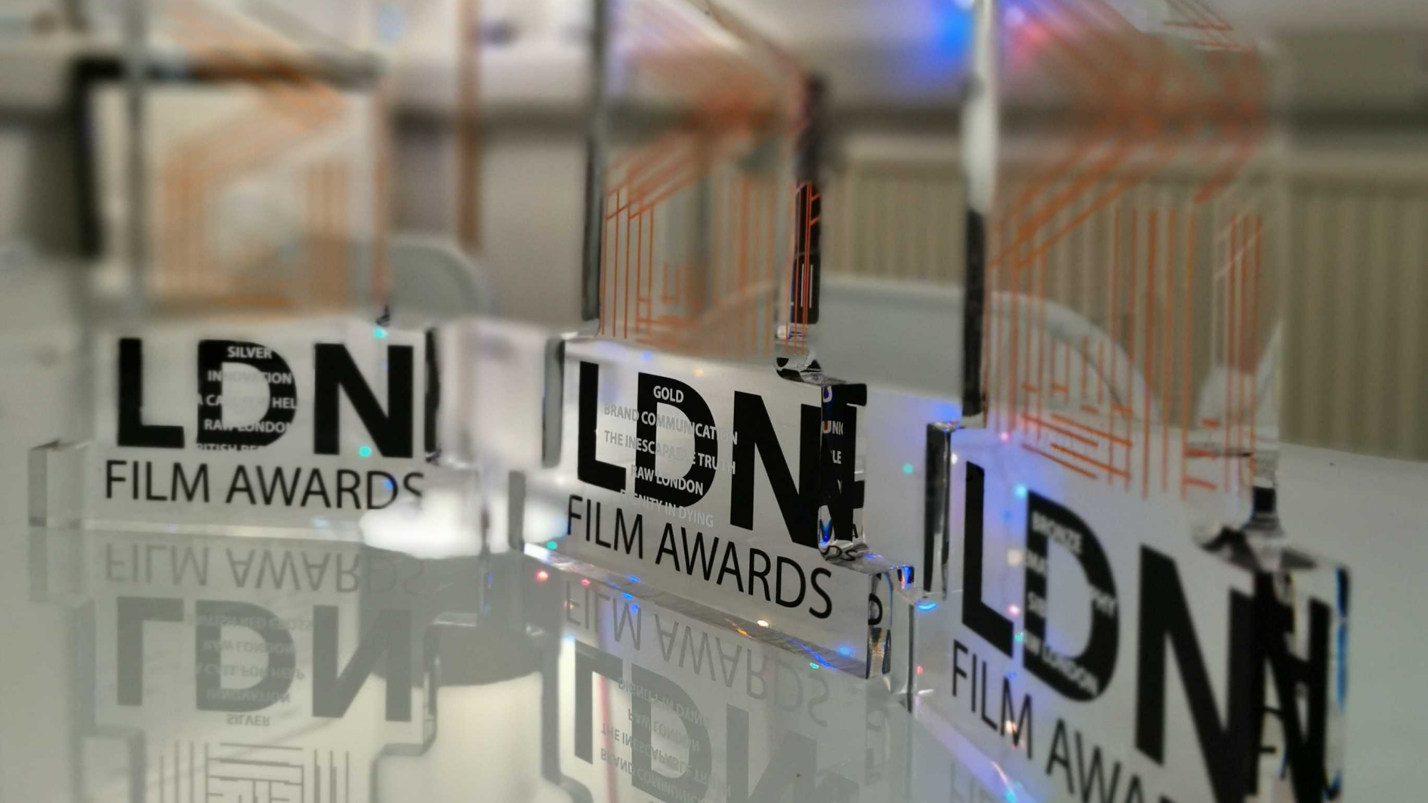 3 trophies from Raw London's win at EVCOM Film Awards 2020