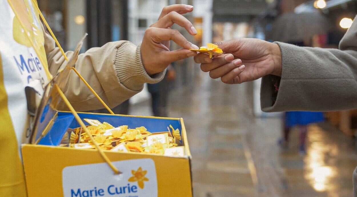 Fundraising image from Marie Curie's social content campaign