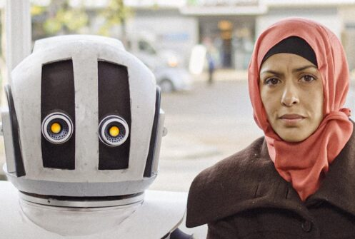 Child robot with human mother from War Child