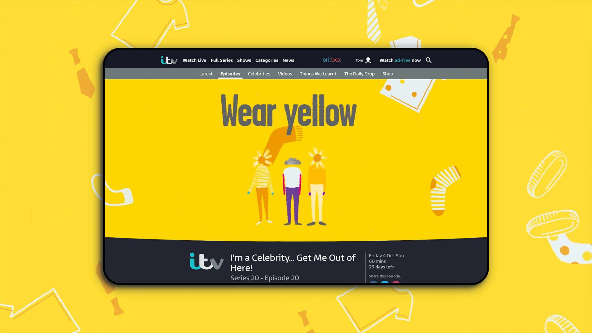 Young Minds' #WearYellow campaign featured on ITV Player pre-roll adverts