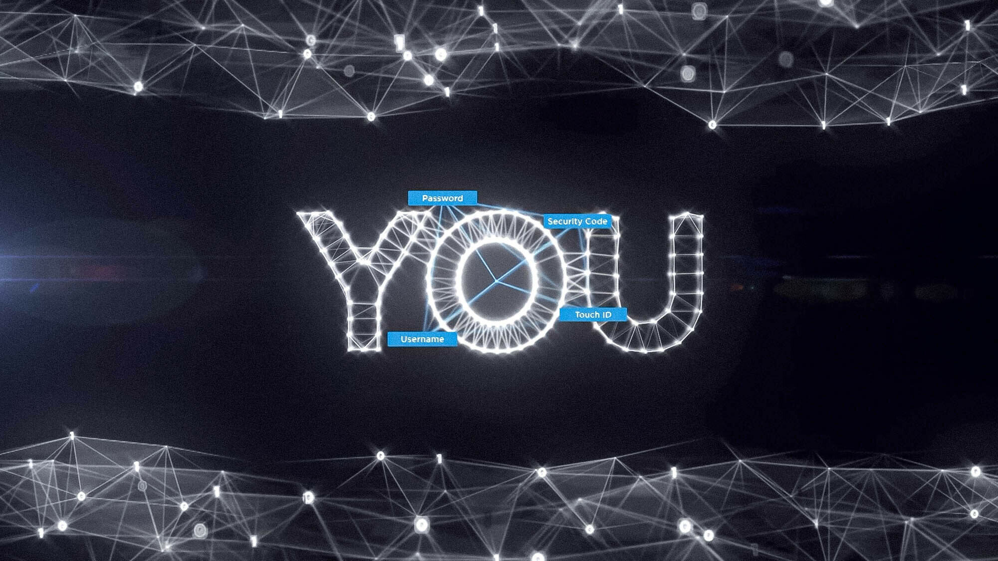 Graphic of the word 'YOU' from a corporate explainer video