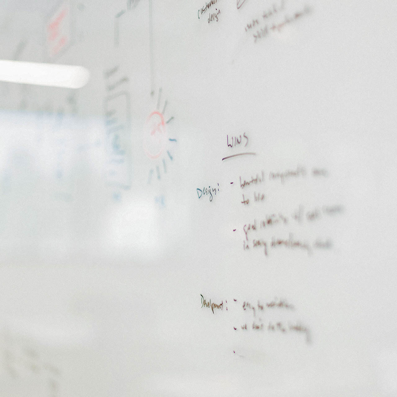 Brainstorm writing on a white board