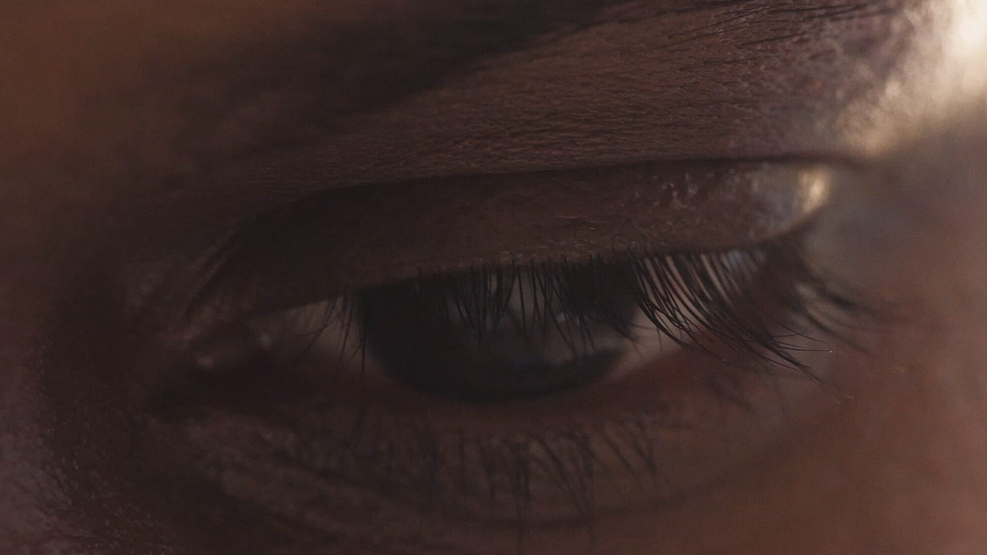 Close up of an eye cured of blindness in India